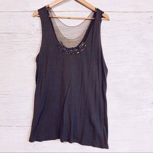 5/15$ Simply Vera Taupe Embellished Tank